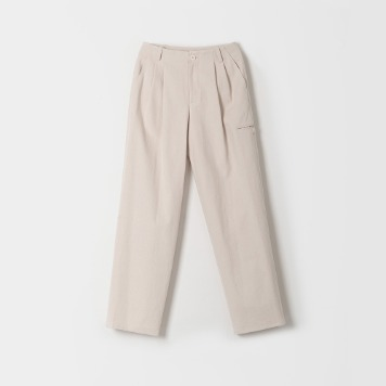 DONA DONAMid Rise Wide Pants(Ecru)