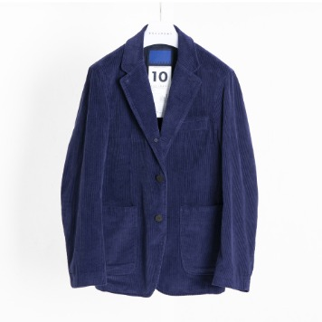DOCUMENTCorduroy 3 Button Set Up Jacket(Blue)