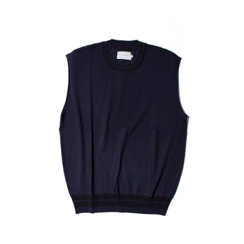 OUR SELVESUnlike Wool Knit Vest(Navy)30%OFF