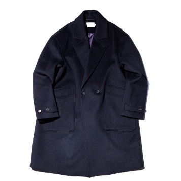 OUR SELVESSoft Wool Double Breasted Coat(Real Black)30% OFF