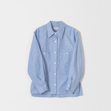 DONA DONATwo Pocket Atelier Shirts(Light Blue)40% OFF
