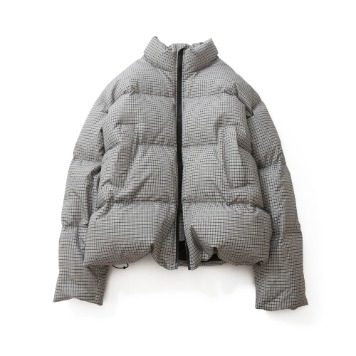 HORLISUNSouthpark Check Pattern Duckdown Jacket(Gray Beige)10% Off