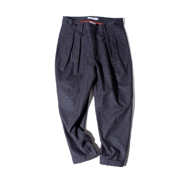 OUR SELVESFine Wool Tapered Slumber Pants(Charcoal)30%OFF