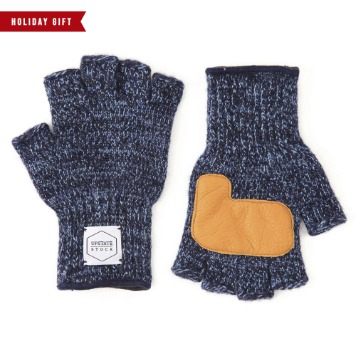 *2020 HOLIDAY GIFT GUIDE**RESTOCK*UPSTATE STOCKFingerless Glove with Deer Skin(Denim)