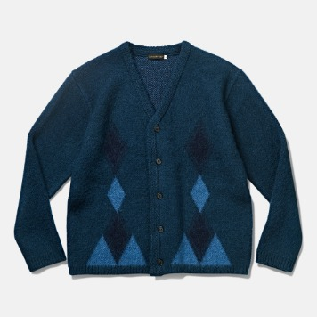 DEUTERODTR1943 Past Mohair Cardigan(Vintage Blue)