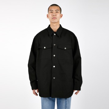 AFTER PRAYYouthhood Over Denim Shirket(Black)