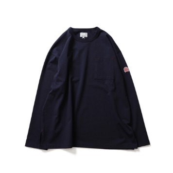 HORLISUNLawrence Overfit Long Sleeve Pocket T(Navy)