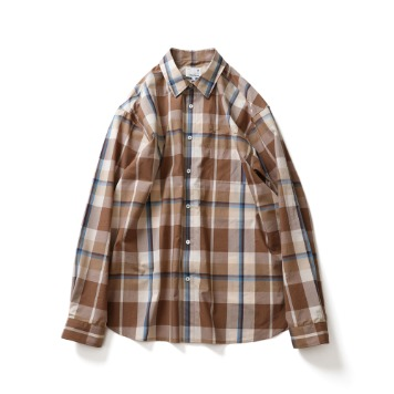 HORLISUNMaili Multi Check Shirts(Beige Layer)