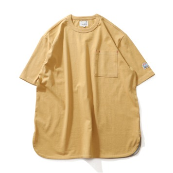 HORLISUNEmery Short Sleeve Pocket Seasonal T-Shirts(Mustard)
