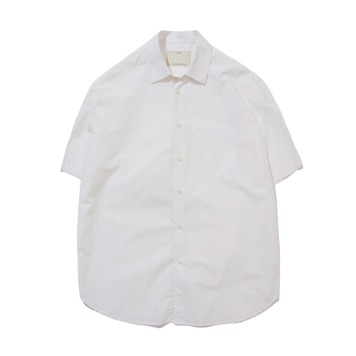 POTTERYShort Sleeve Comfort ShirtCotton / Linen Typewriter Cloth Resilient Hard Finish(White)
