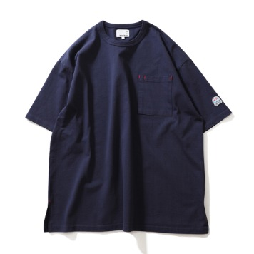 HORLISUNLawrence Overfit Short Sleeve Pocket T-Shirts(Navy)