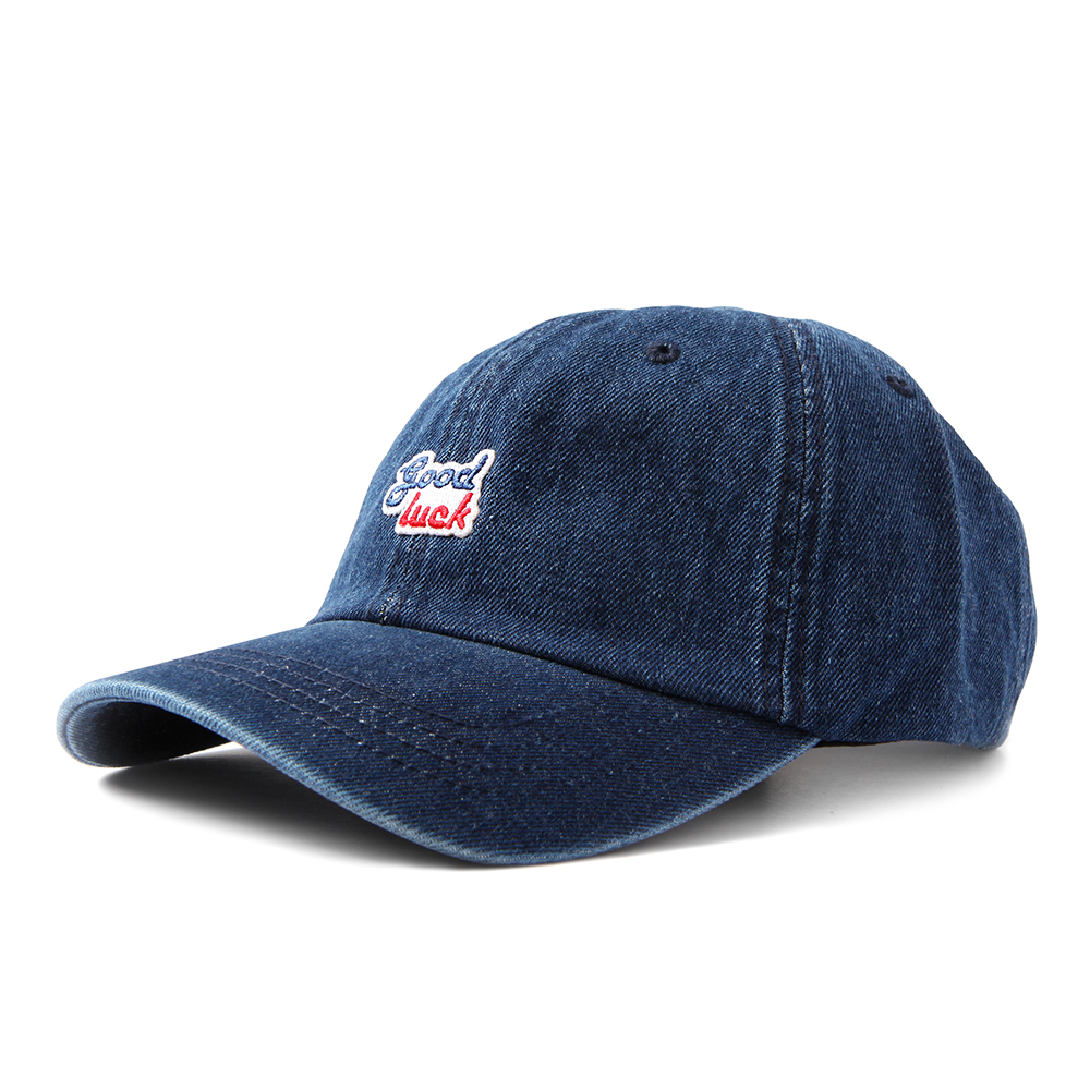 GOOD NIGHT & GOOD LUCK2Colors Logo Denim Cap