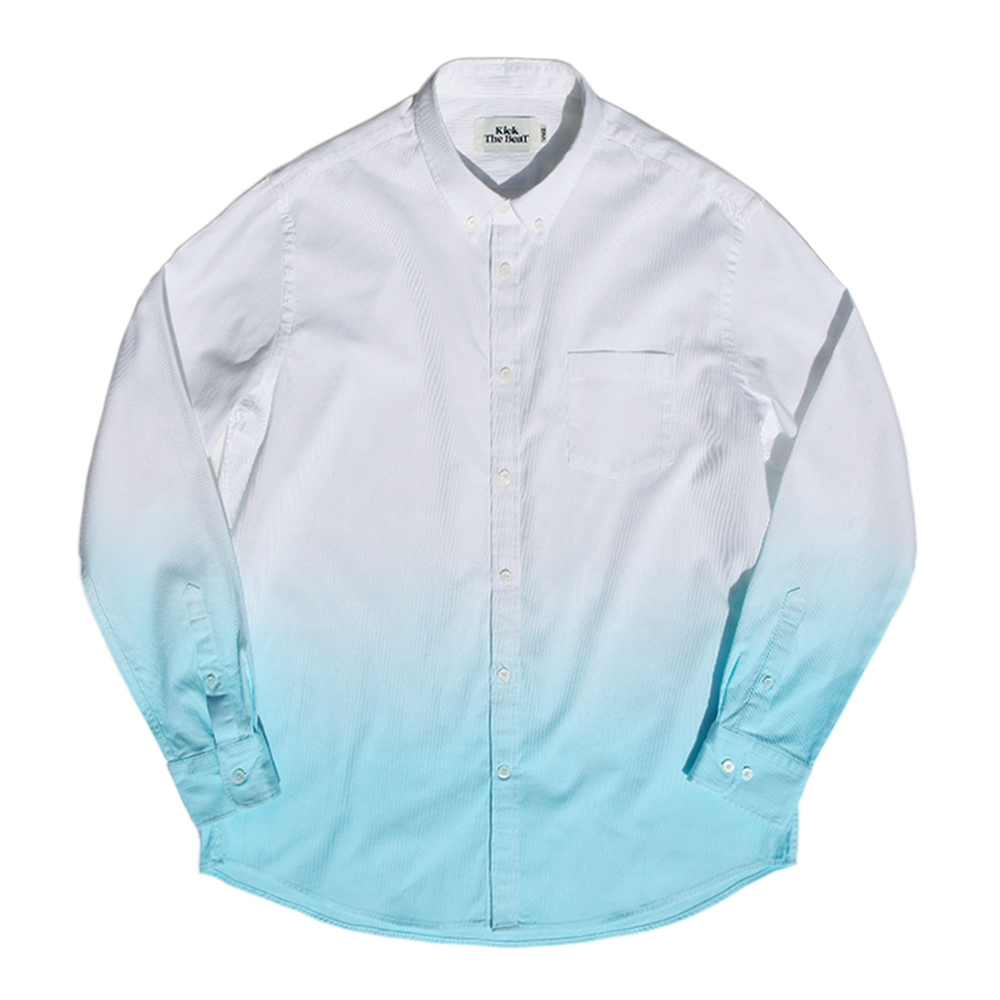 KICK THE BEATFade Dyed Shirt(White)30% Off