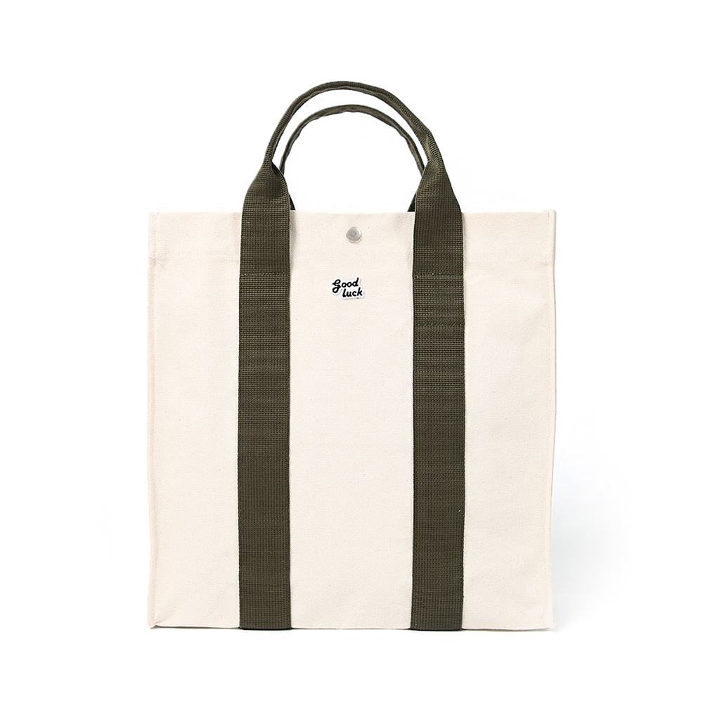 GOOD NIGHT & GOOD LUCKBig House Tote Bag(Ecru/OLive)30% off w 78,000