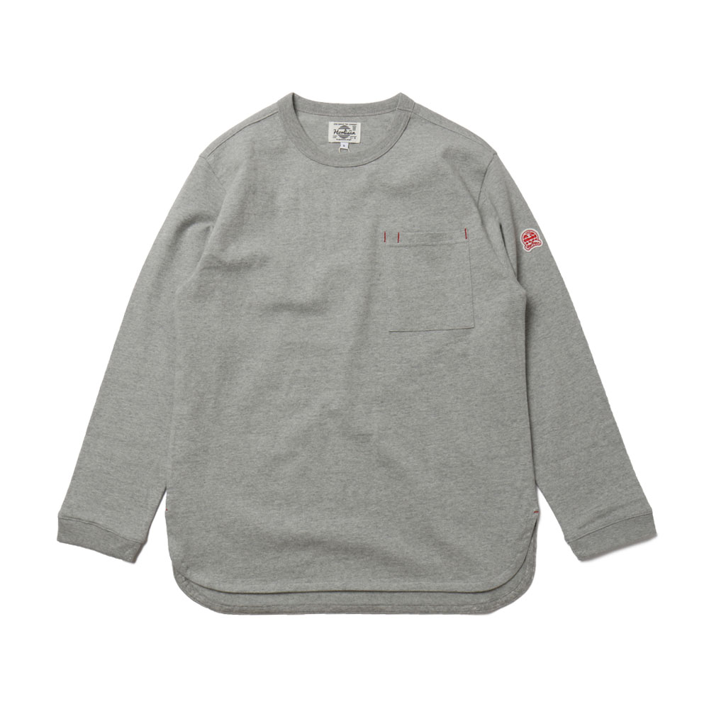HORLISUNEmery Long Sleeve Pocket T(Grey 803)10% off