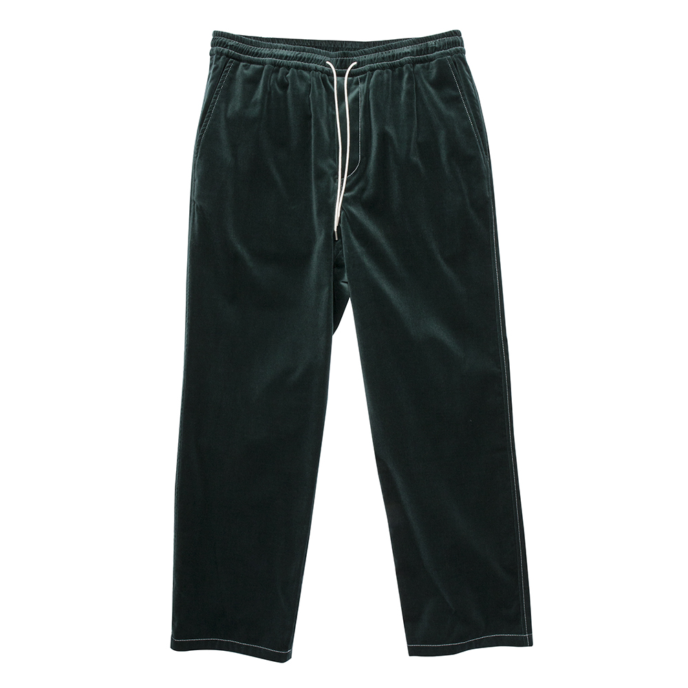 TWOBUILDERSHOUSEVelvet Easy Trouser(Green)