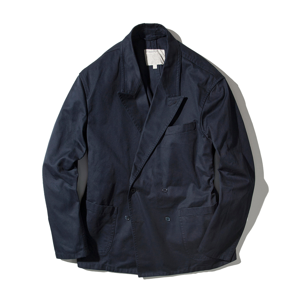 POTTERYCotton Washed Double Jacket 02(Navy)