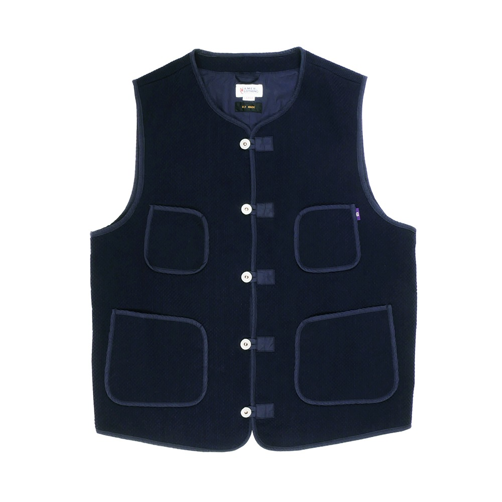 NAMER CLOTHINGPearlweave Vest(Navy)
