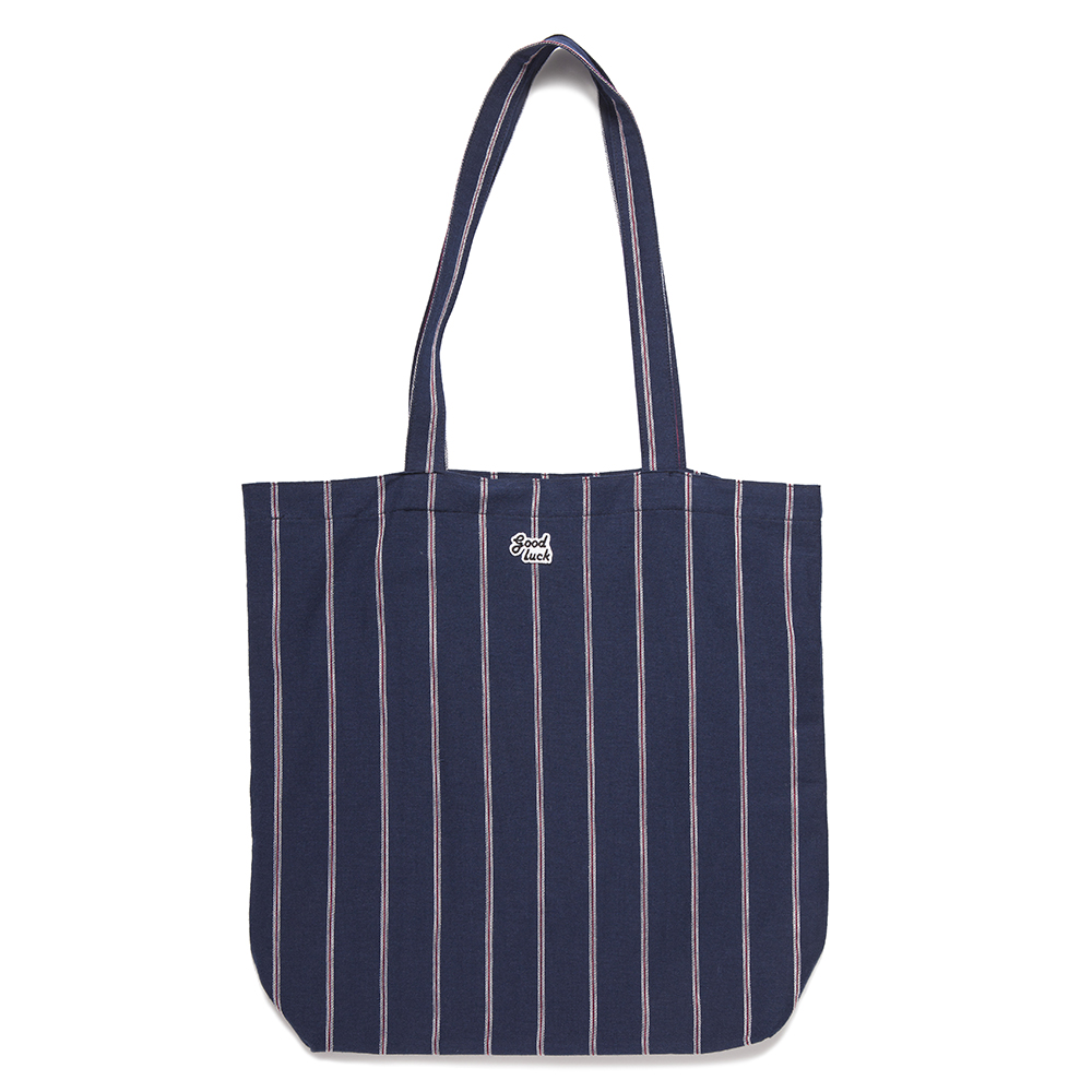 GOOD NIGHT & GOOD LUCKIrvine Tote(Navy Stripe)20% off w 35,000
