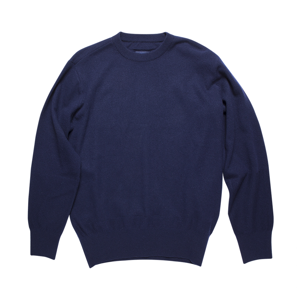 DOCUMENTRound Neck Sweater(Blue)