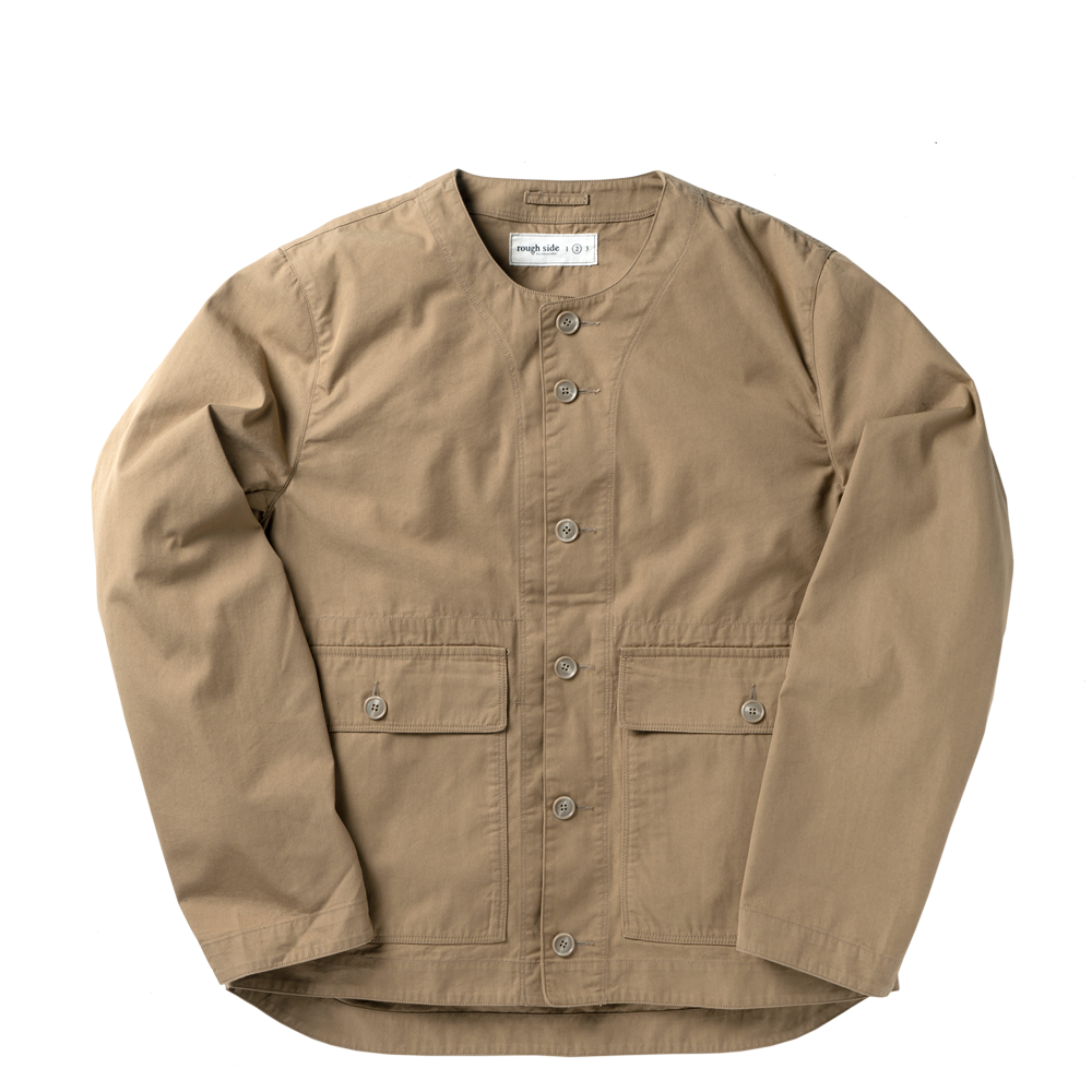ROUGH SIDECollarless Jacket(Beige)