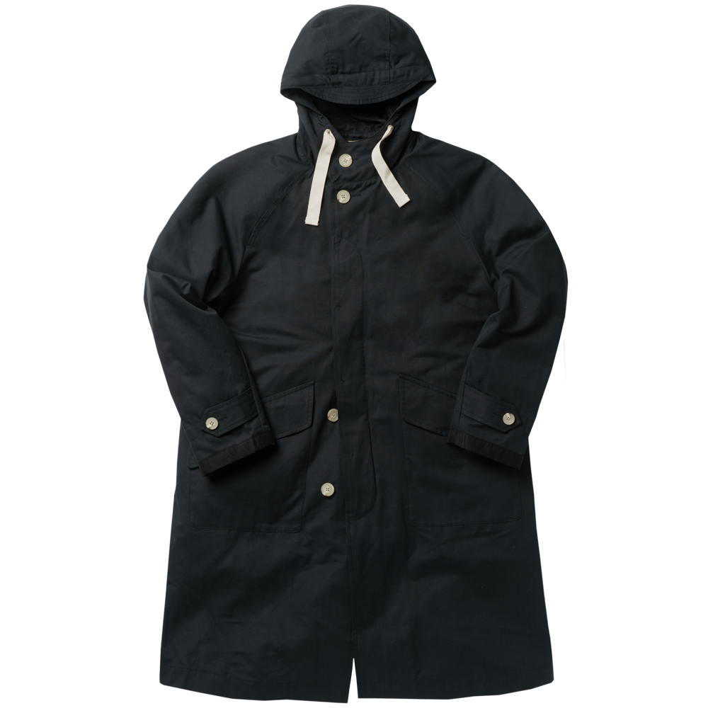 ROUGH SIDEDetachable Hoodie Coat(Navy)