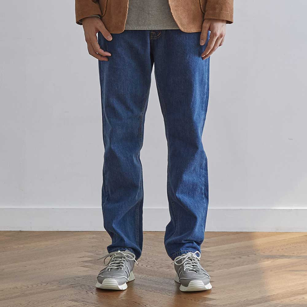 HORLISUNBlueborn Loose Tapered Denim Pants(Light Navy)