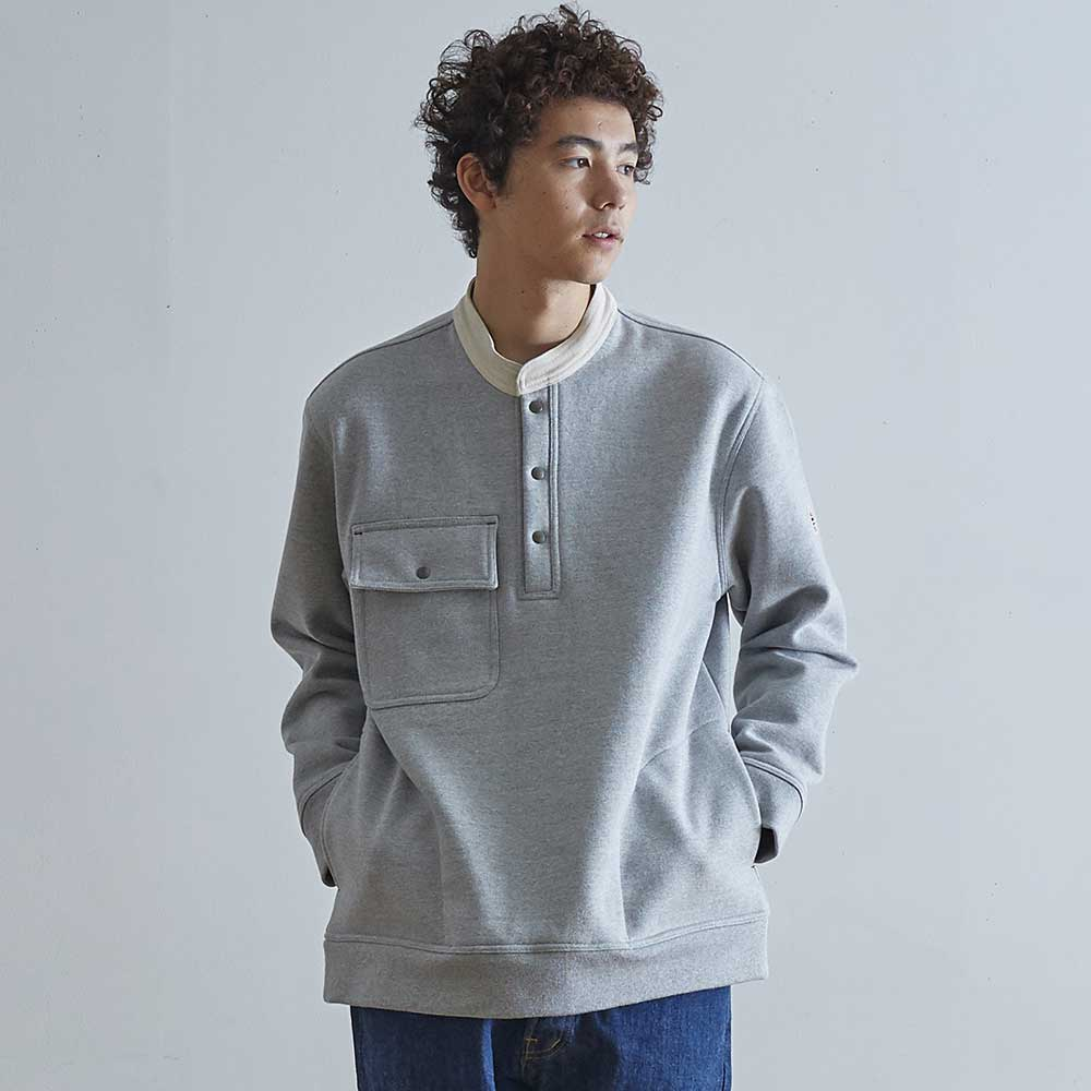 HORLISUNForest Collar Heavy Cotton Pullover(Grey)10% off