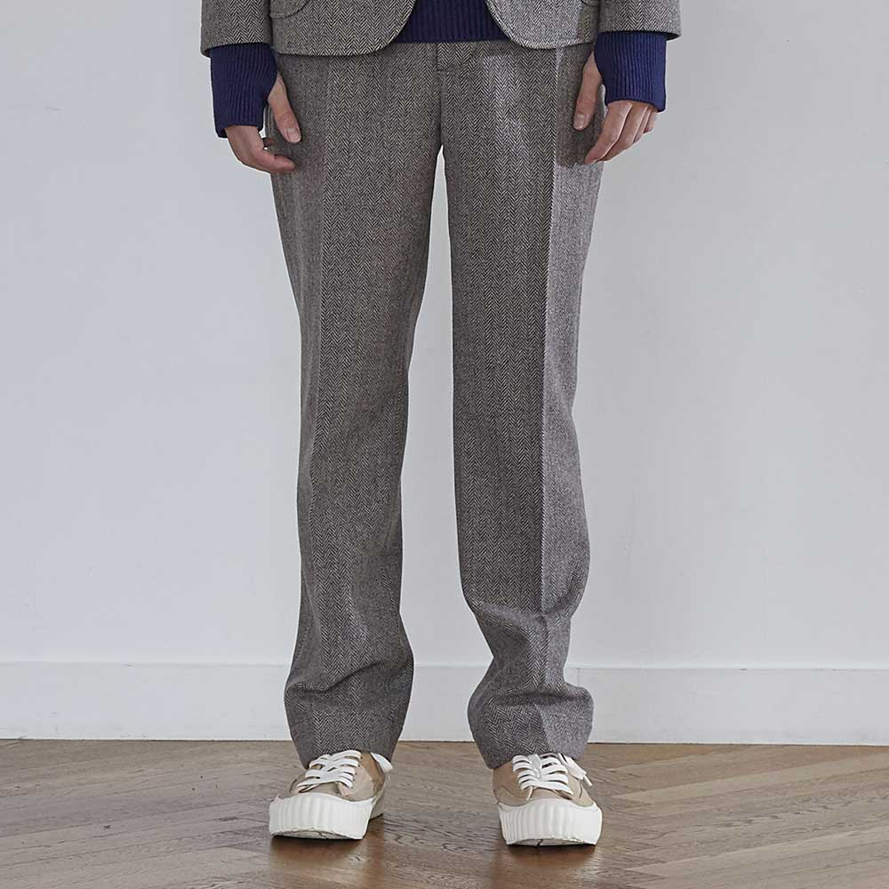 HORLISUNMillspaugh Herringbone Pants(Melange Grey)10% off