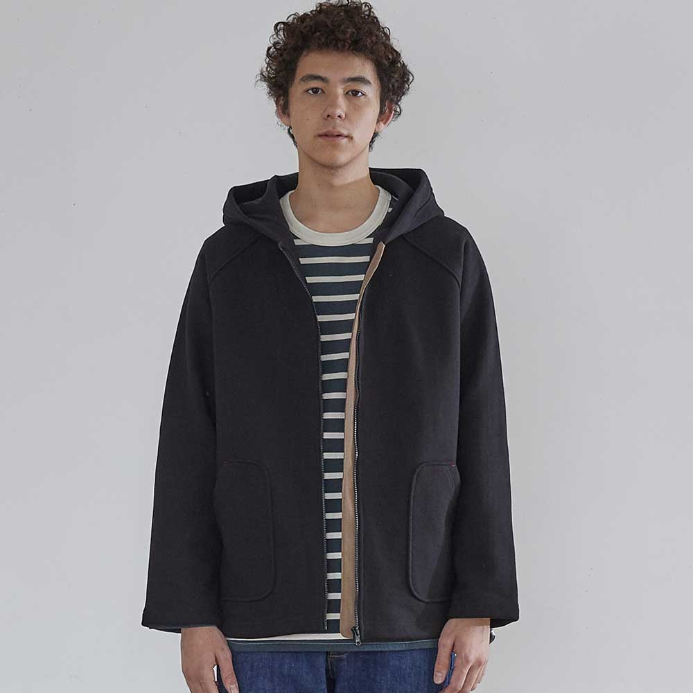 HORLISUNWillow Zip Up Heavy Cotton Jacket(Black)