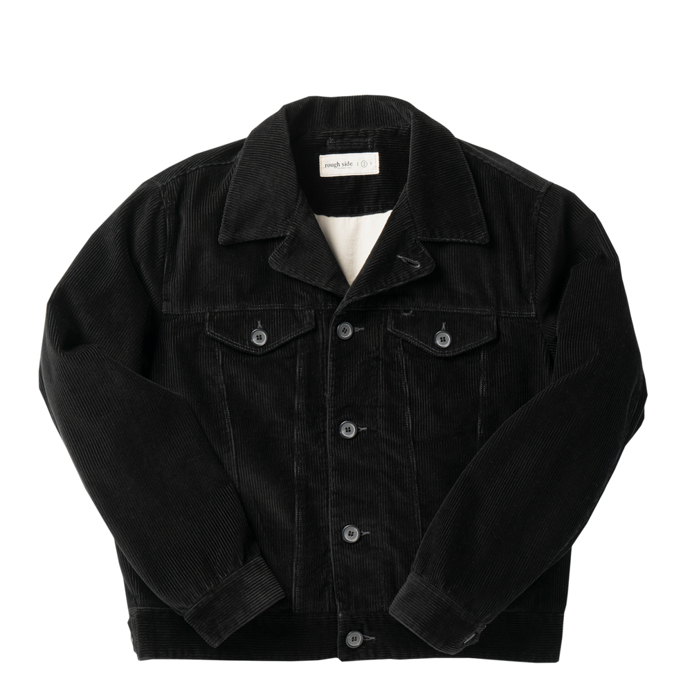 ROUGH SIDECorduroy Trucker  Jacket(Black)30% Off
