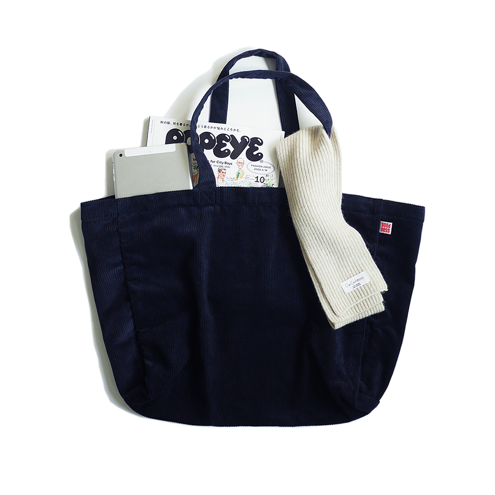 KICK THE BEATCord Tote Bag(Navy)