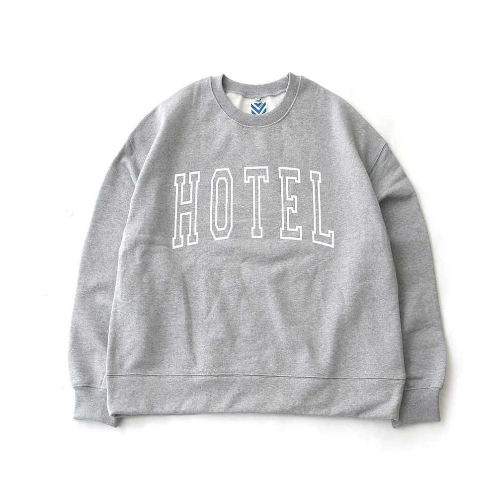 DAILY INNHotel Big Logo Heavy Weight Oversized Sweat(Melange Grey)30% off