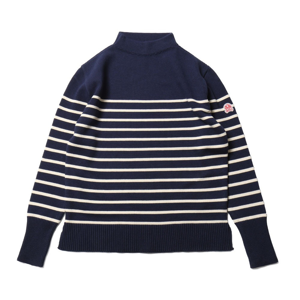 HORLISUNTedburn Mock Neck Stripe Knit(Royal Navy)10% off