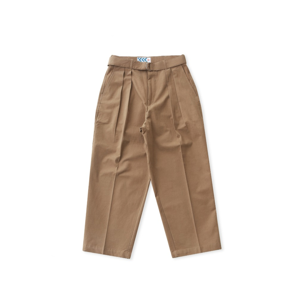 DAILY INNConcierge Belted Wide Pants(Camel Beige)
