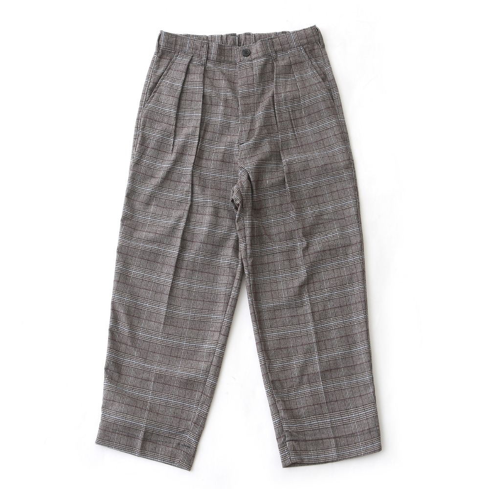 DAILY INNLobby Boy Easy Wide Pants(Brown Check)