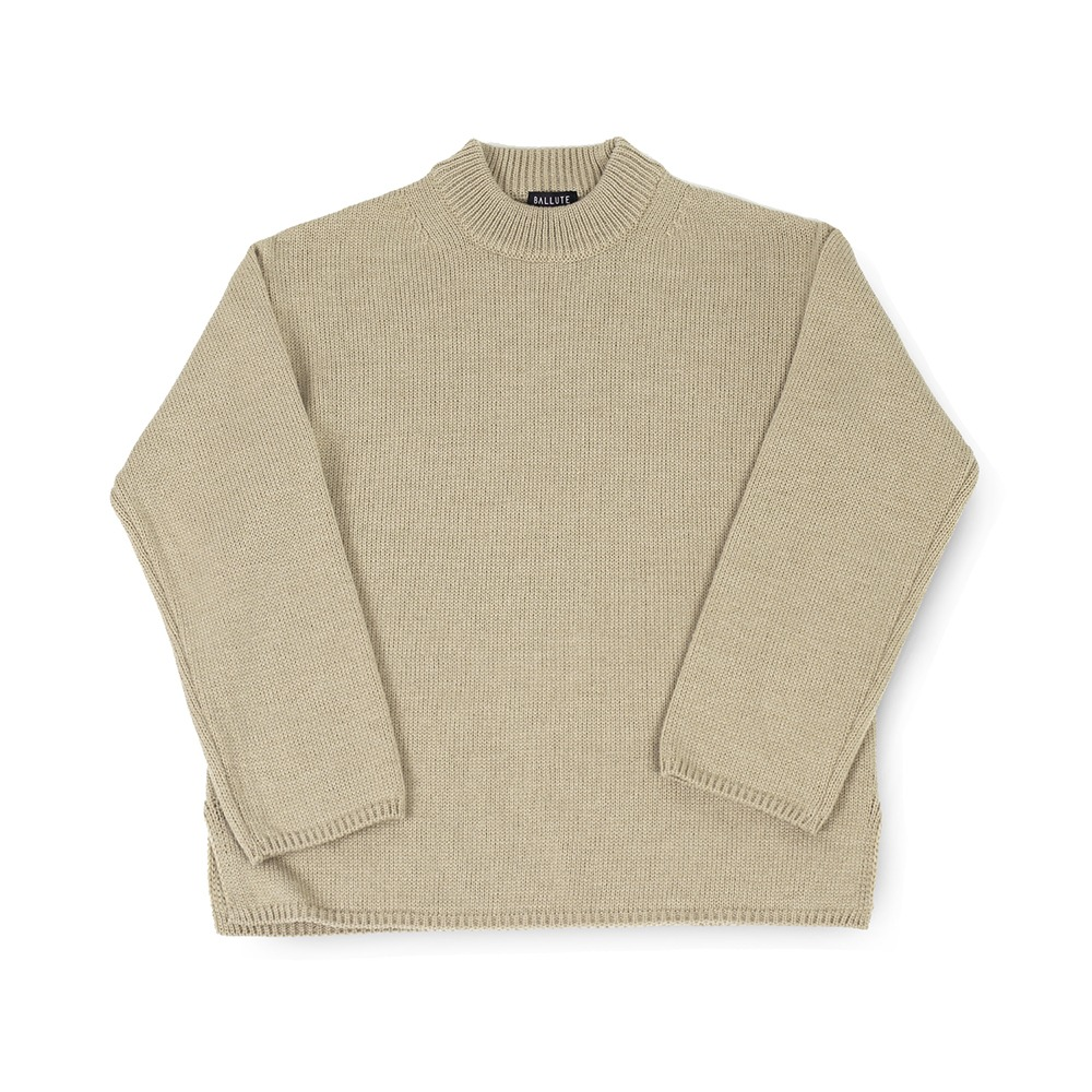 BALLUTEFisherman Crewneck Knit(Tan)30% Off