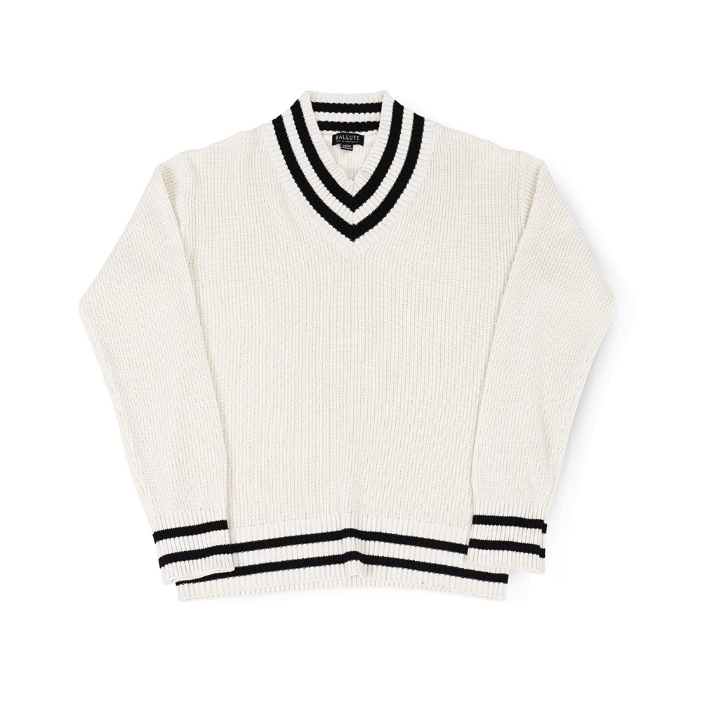 BALLUTEV Neck Cricket Knit(Ivory)30% Off