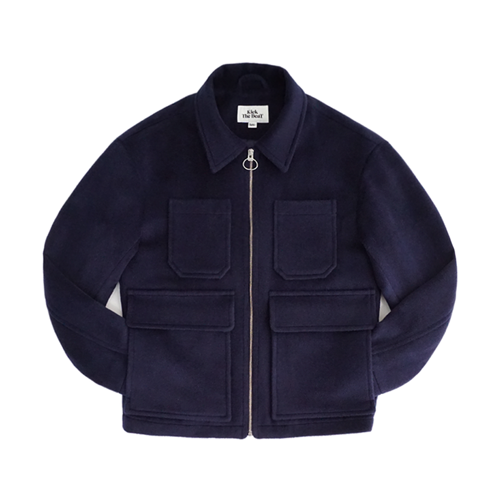 KICK THE BEATUnisex Wool Blouson(Navy)30% Off