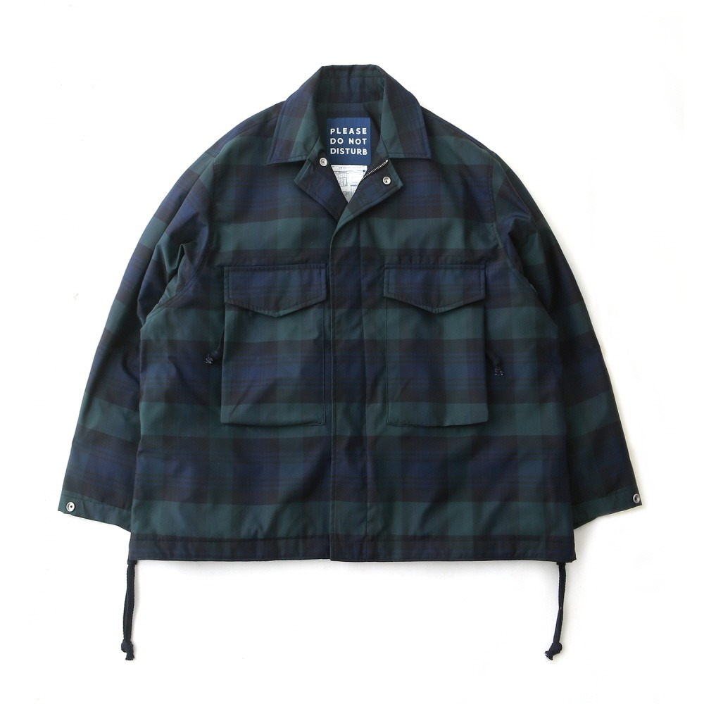 DAILY INNHotel Security M-65 Oversized Jacket(Tartan Check)