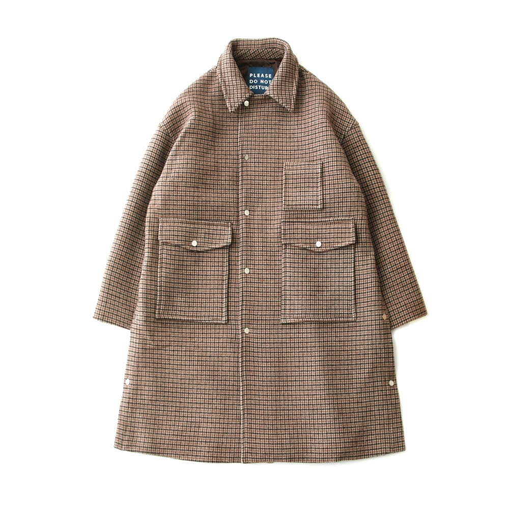 [PRE-ORDER]DAILY INNDoor Man Uniform Heavy Wool Oversized Coat(Gun Check)10% Off  w 435,000