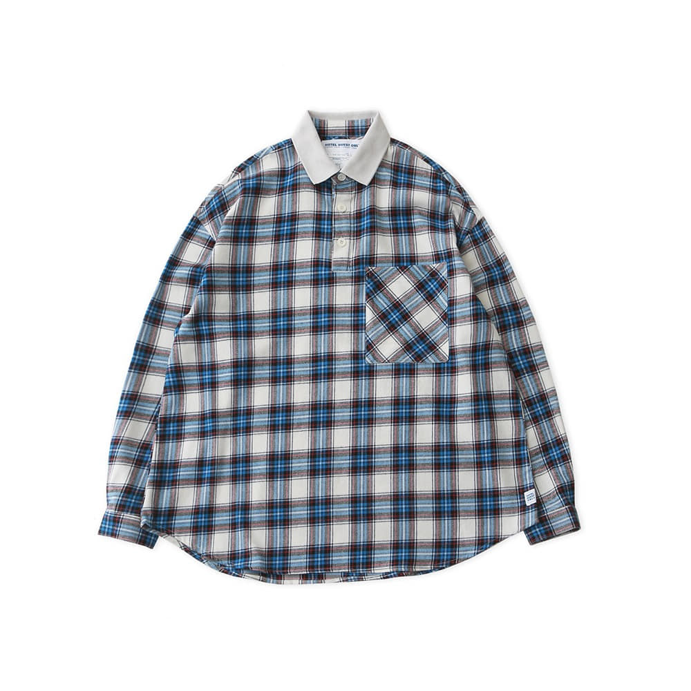 DAILY INNLobby Boy Pique Flannel Oversized Shirt(Old School Tartan)