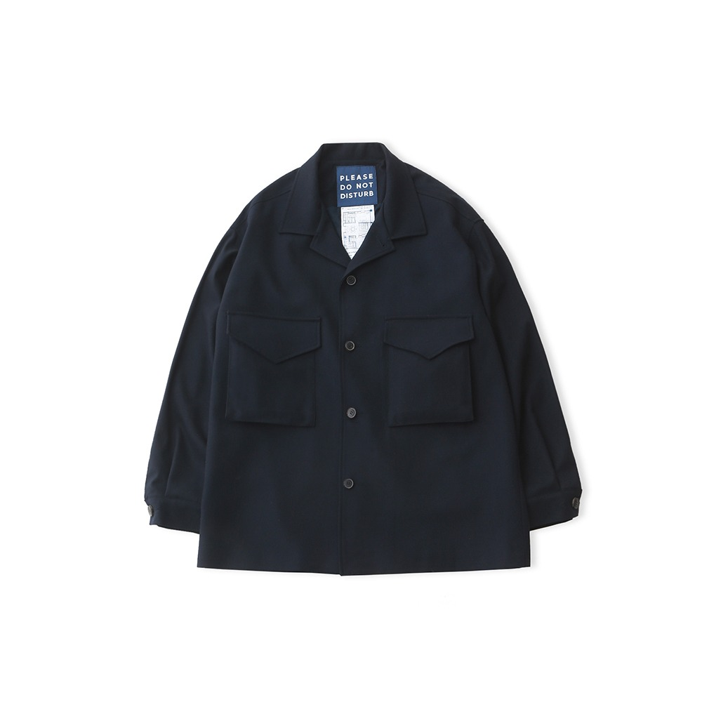 DAILY INNLobby Boy Oversized Set Up Jacket(Navy Wool)
