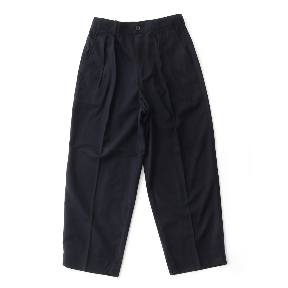 DAILY INNLobby Boy Easy Wide Pants(Navy Wool)20% off
