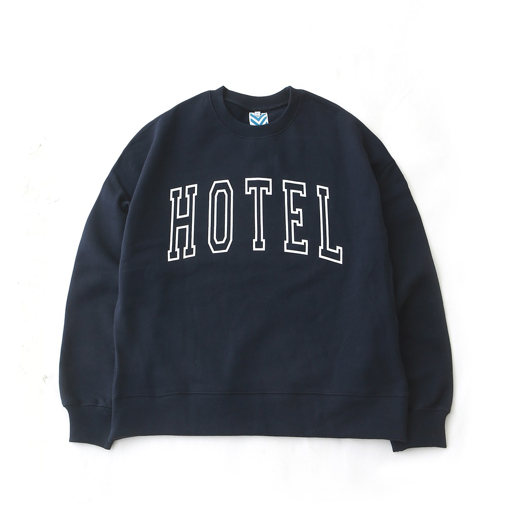 DAILY INNHotel Big Logo Heavy Weight Oversized Sweat(Navy)30% off