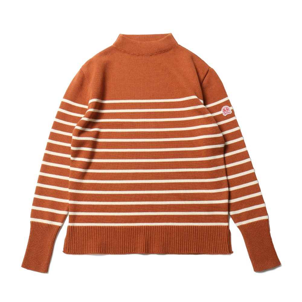 HORLISUNTedburn Mock Neck Stripe Knit(Orange)10% off