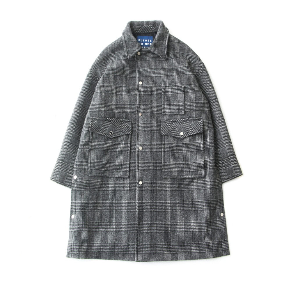 [PRE-ORDER]DAILY INNDoor Man Uniform Heavy Wool Oversized Coat(Glen Check)10% Off  w 435,000