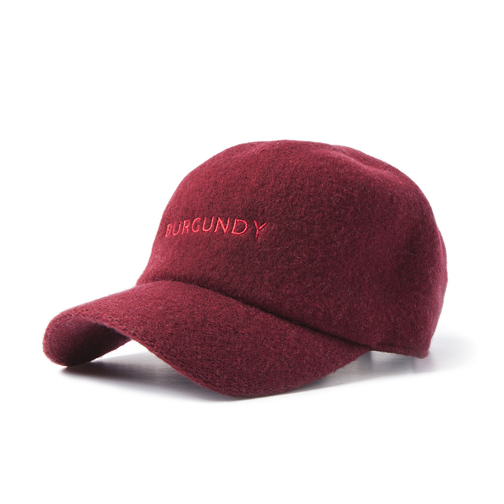 GOOD NIGHT & GOOD LUCK'BURGUNDY' Wool Cap