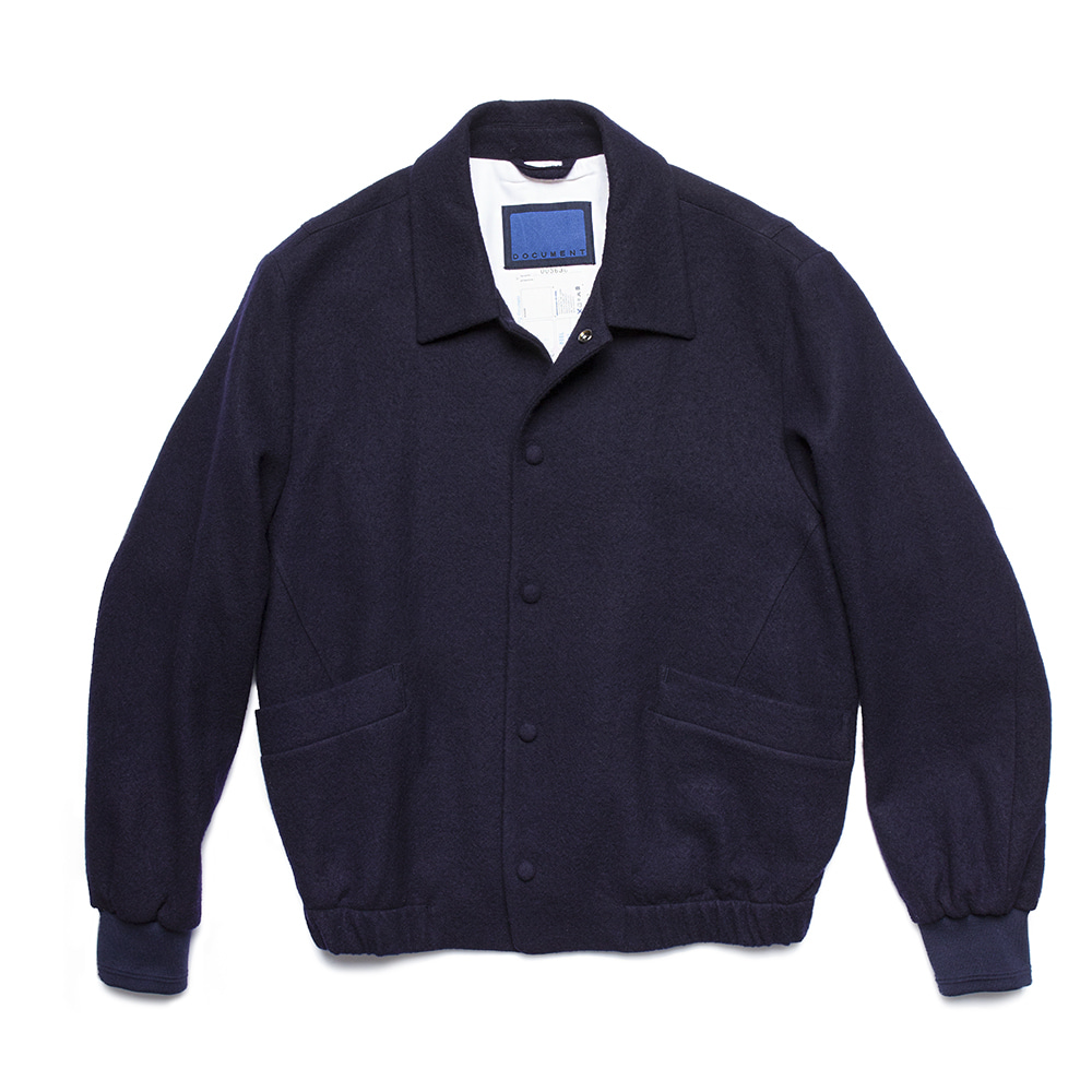 DOCUMENTBoucle Wool Blouson(Navy)