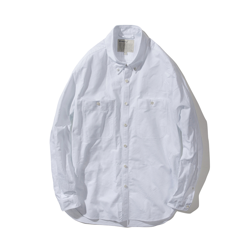 POTTERYButton Down Shirt(White)